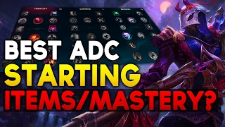 New Best Adc Starting Items Masteries Rune Setup League Ends