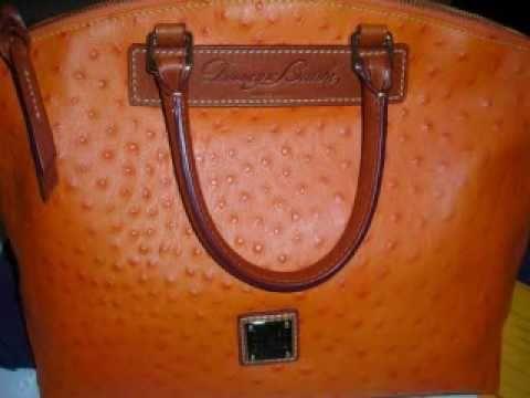 SOLD!! - Dooney   Bourke Orange Ostrich Satchel - YouTube d21bf290b9