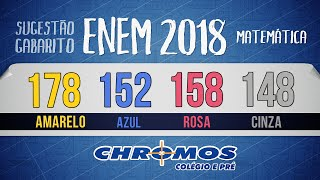 Gabarito ENEM 2018 CHROMOS - Prova Amarela: Questão 178   Matemática