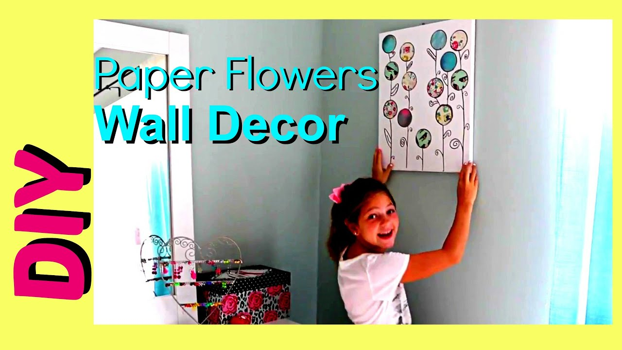 diy summer room decor | cute and easy room wall decor | paper