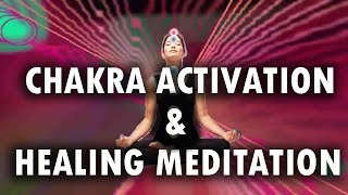 Chakra Activation & Healing Meditation with Binaural Beats & Drums