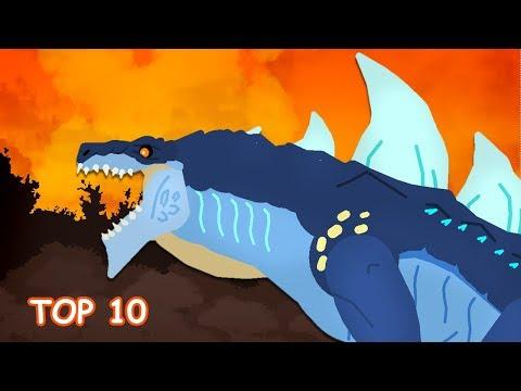 DinoMania - Top 10 Battles (2018) | Godzilla And Dinosaurs Cartoons