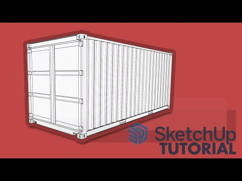 20' Shipping Container Model In Sketchup
