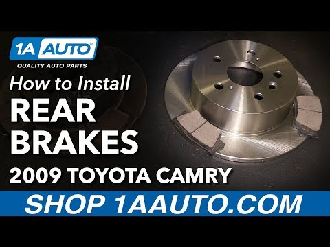 How to Replace Rear Brakes Pads Rotors 07-11 Toyota Camry