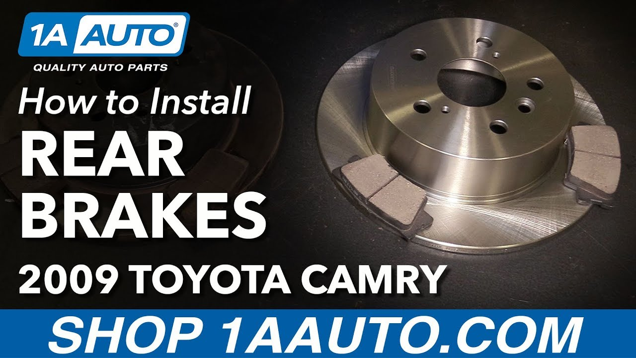 How To Replace Rear Brakes Pads Rotors 07 11 Toyota Camry