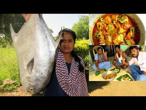 Big Fish Kulambu Recipe Cooking in My Village   Tasty Fish Curry   VILLAGE FOOD