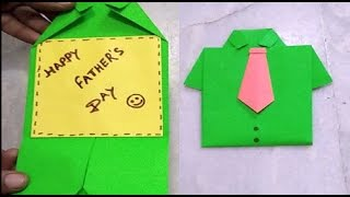 Father's Day Card: How to make Paper Shirt Card?