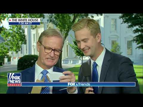 Steve Doocy Gets Father's Day Surprise From Peter at White House
