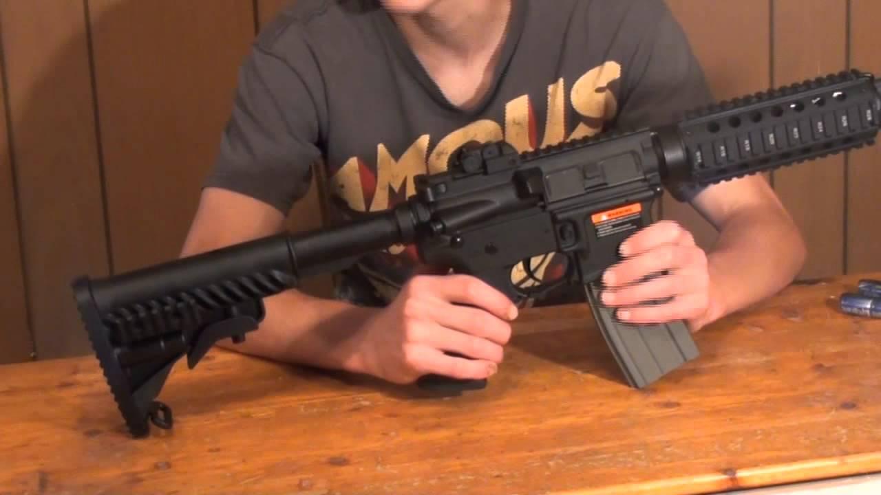 ca8824e9db3 APS M4 CQB Electric BlowBack Airsoft AEG Review - YouTube