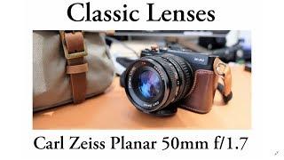 Classic Lenses - Carl Zeiss Planar T* 50mm F/1.7 C/Y