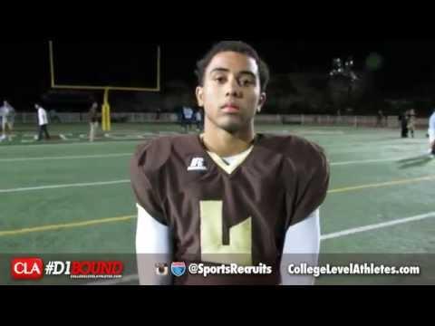 Mason Williams (St. Francis) 2015 DB Recruit Interview - CollegeLevelAthletes.com