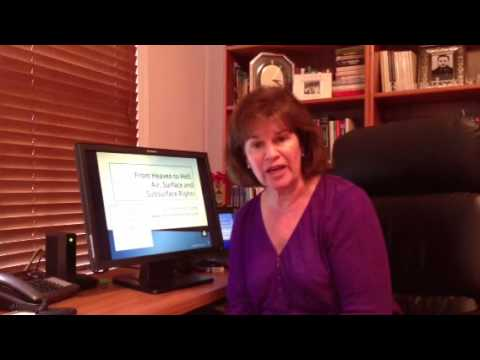 """Debbie Long CE- """"From Heaven to Hell: Air, Surface, and Substance Rights"""" Video"""