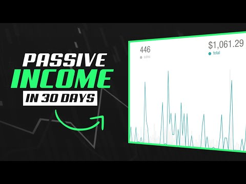 Start Generating PASSIVE INCOME In 30 DAYS! ($700+ Per Month)