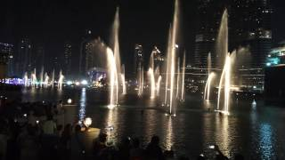 Burj Khalifa Fountain Show November 26th 2016 James Bond Skyfall