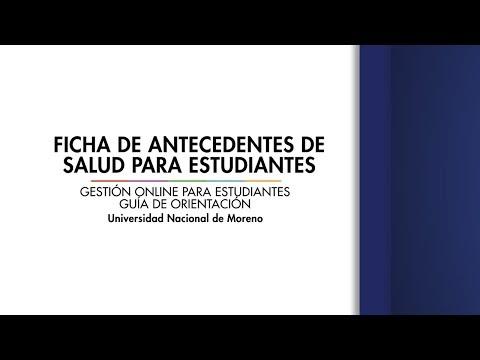 Ficha de Antecedentes de Salud ingresantes a la UNM