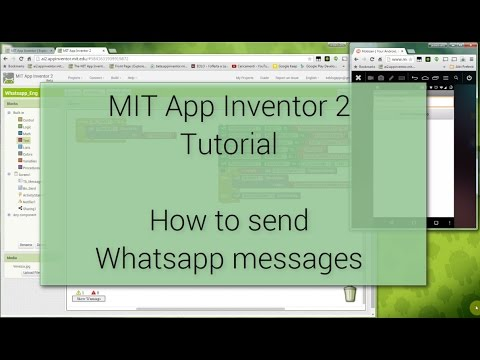 Android Tutorial  - How to send WhatsApp messages with MIT App Inventor 2
