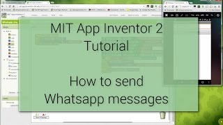 android tutorial how to send whatsapp messages with mit app inventor 2