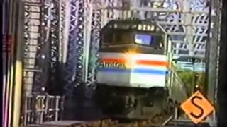 Amtrak CapeCodder Coming Across the Railroad Bridge in 1989