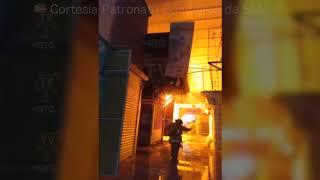 Fuerte Incendio en la Plaza San Miguel