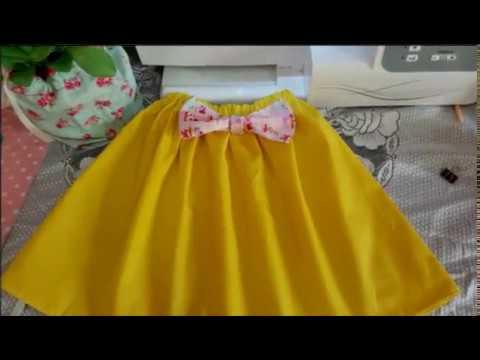 5f342d810 طريقه تفصيل جيبة اطفال (skirt) - YouTube