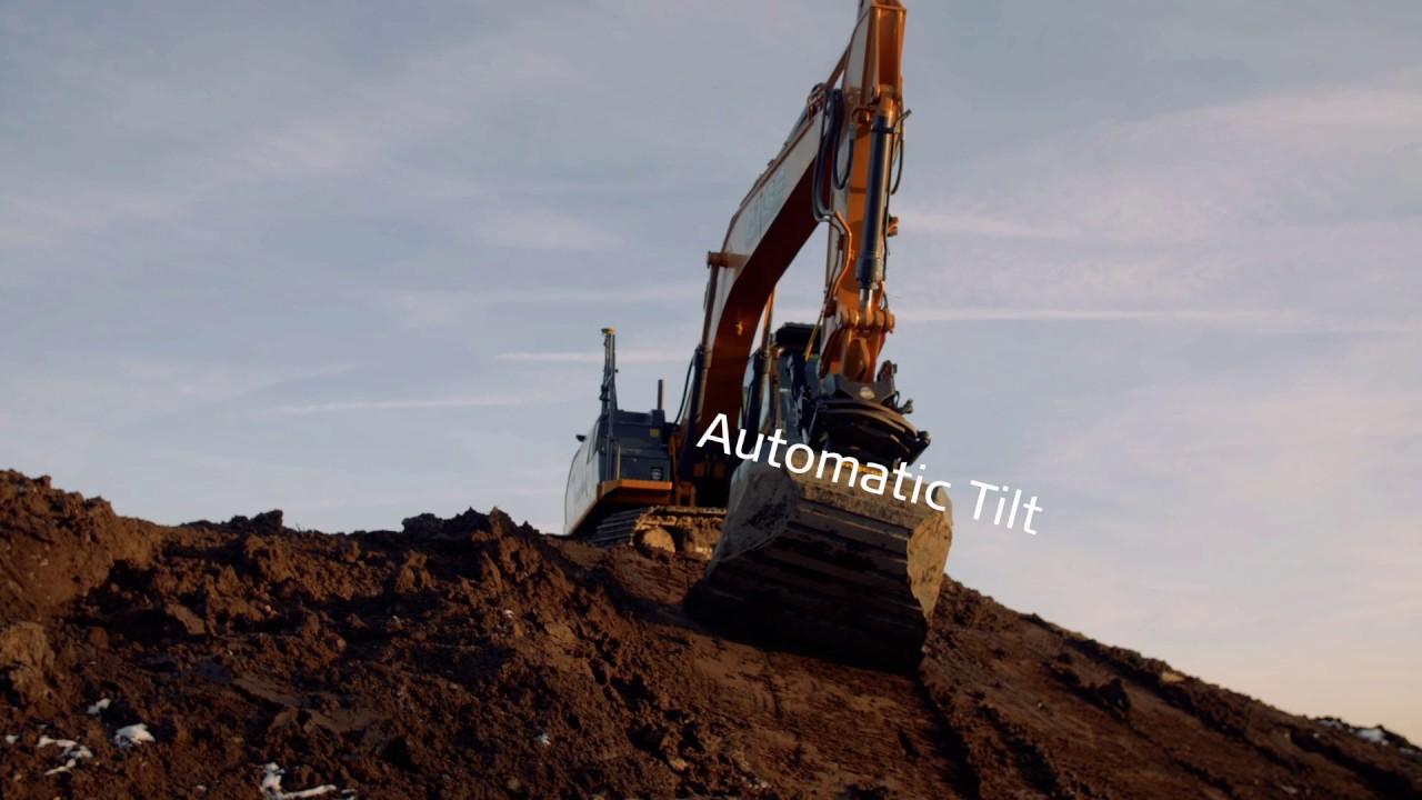 Leica Geosystems Automatic tilt control on engcon tiltrotators