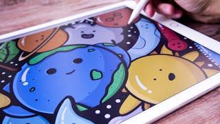 Doodle Art on iPad Pro | Adobe Draw + Apple Pencil