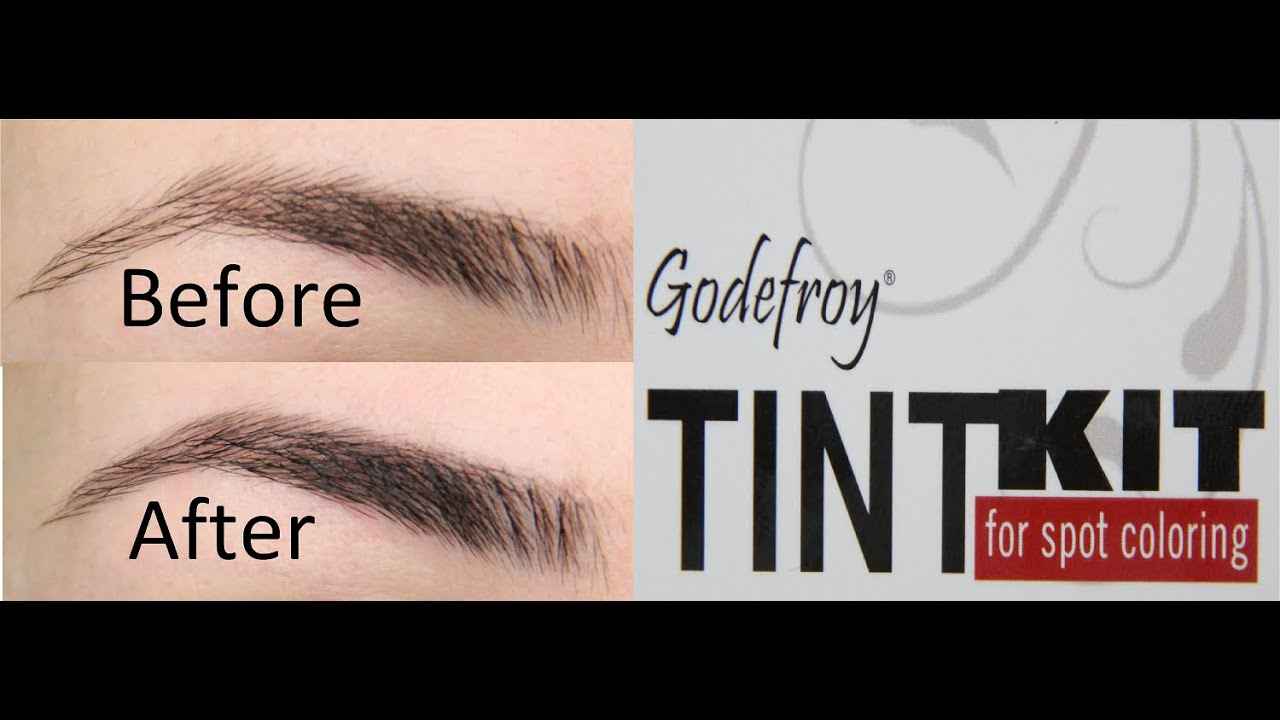 How To Tint Eyebrows | Godefroy Tinting Kit in Jet Black Tutorial ...