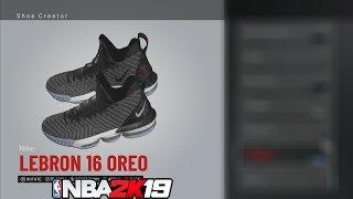 NBA 2K19 Shoe Creator LeBron 16 Oreo *#NBA2K19*