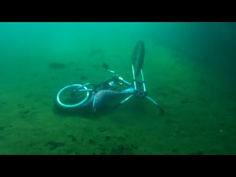 Thumbnail: Vintage Scuba diving and Finding bikes in lake Superior on 8-8-2016