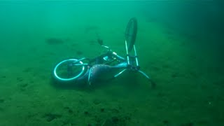 Vintage Scuba diving and Finding bikes in lake Superior on 8-8-2016