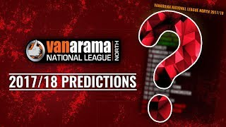 Vanarama National League NORTH 2017/18 Predictions