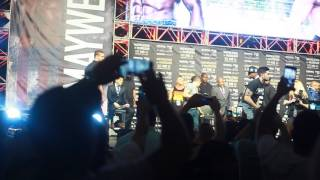 FLOYD MAYWEATHER MAKES HIS GRAND ENTRANCE NYC MCGREGOR
