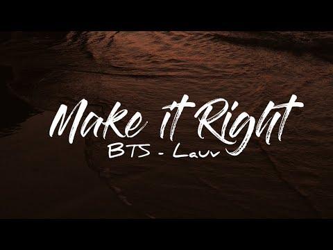 BTS - Make It Right .Feat LAUV KARAOKE Instrumental With Lyrics