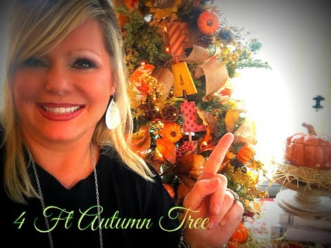 JOIN ME AS I DECORATE MY 4 Ft AUTUMN TREE 🌳