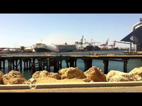 FREMANTLE PORT SHIP FIRE