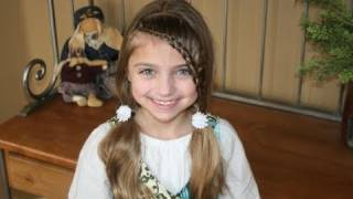 Lace Braid into Soft Ponytails | Cute Girls Hairstyles