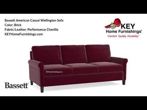 Bassett American Casual Wellington Sofa | Living Room Furniture Video | 2018