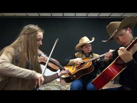 2018-01-06 Austin Ellys Hornpipe Jam with Leah, Julian, Chad - 2018 Colorado Fiddle Championships