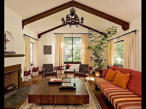 Потолочные балки в интерьере частного дома