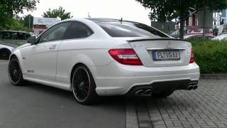 Mercedes C63 AMG Coupe Sound !!