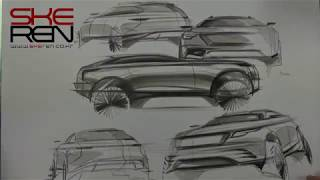 How to car sketch