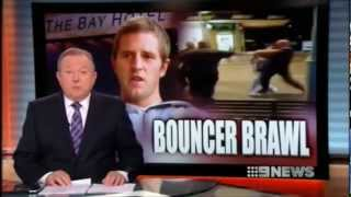 9news Mornington Bay Hotel- Vision Of Hotel Bouncers 'bashing' Queue Jumper