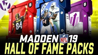 MADDEN 19 HALL OF FAME EDITION PACK OPENING!! - Madden 19 Pack Opening