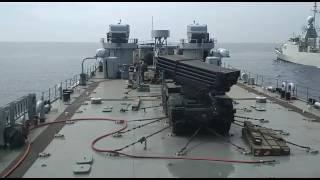 Detik detik Uji coba senjata RM 70 Grad 122mm di atas KRI