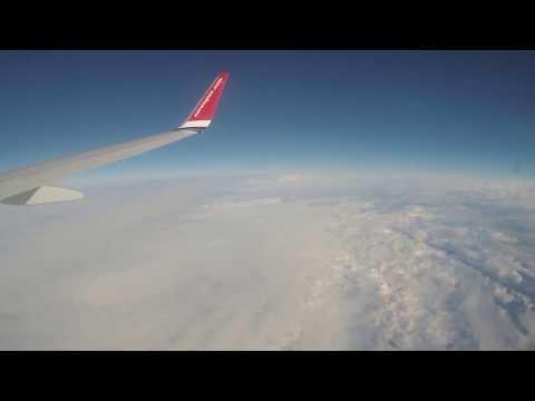 TIMELAPSE FLIGHT NORWEGIAN AIR D81042 ROMA FIUMICINO - OSLO GARDERMOEN 06/03/2017