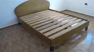 видео Кровать односпальная своими руками из фанеры