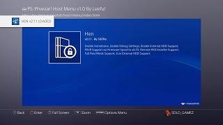 how to install PS-Phwoar! Host Menu v1.0 by Leeful with Latest PS4 Exploit Payloads
