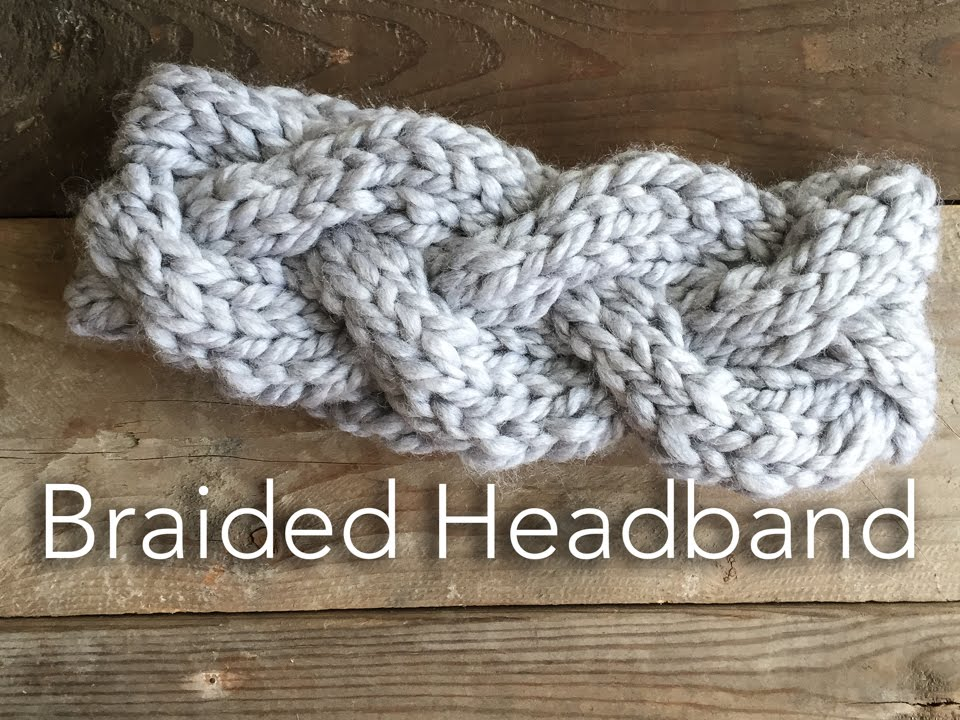 Knitted Braided Headband - YouTube