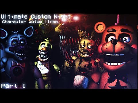 SFM/FNAF] Ultimate Custom Night All Voice Lines For