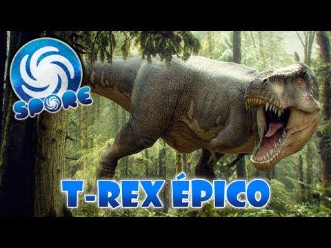 Jogando com o T-REX (Epic mod TEST*) - SPORE